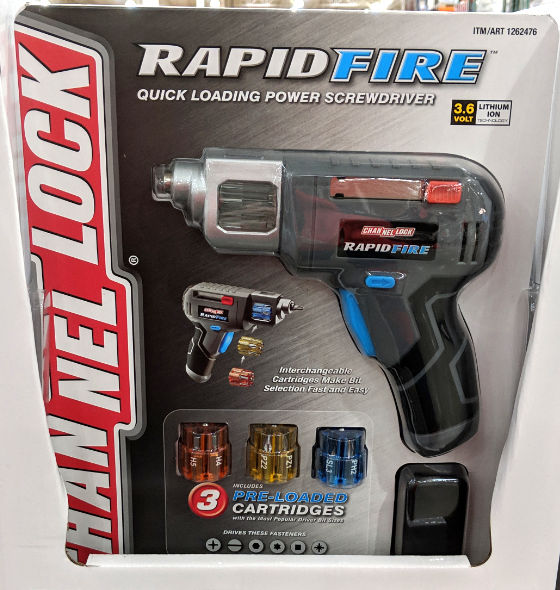 Channel Lock Rapid Fire Quick Loading Power Screwdriver