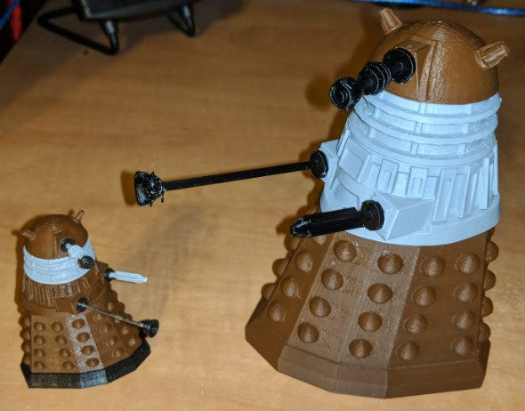 Daleks printed in PLA
