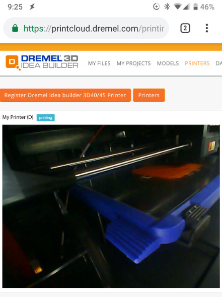 Dremel 3D online software on your phone