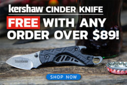 Free Kershaw Cinder Offer Holidya 2018 BladeHQ