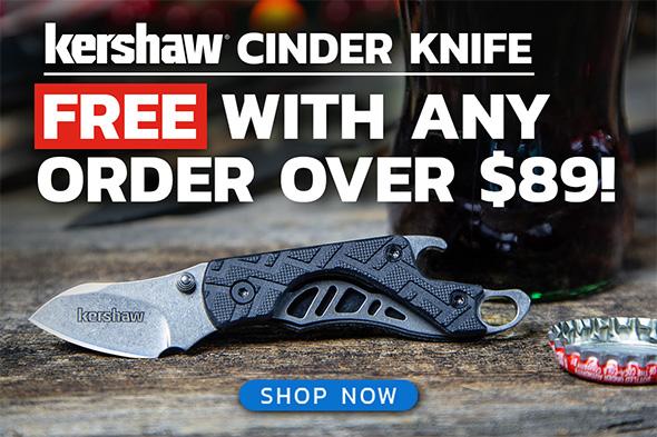 Free Kershaw Cinder Offer Holidya 2018 BladeHQ