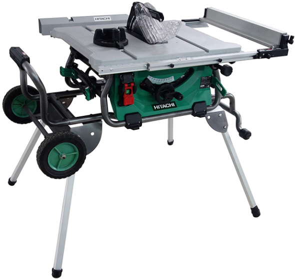 Hitachi MetaboHPT 10inch jobsite tablesaw