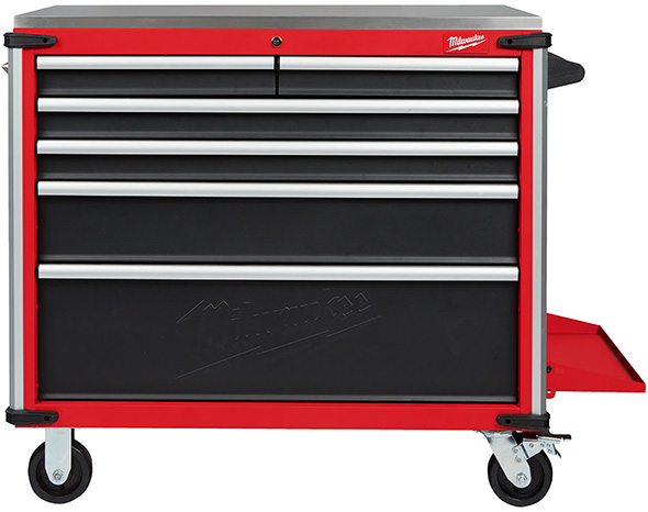 Milwaukee 40-inch Stainless Steel-Topped Mobile Workbench