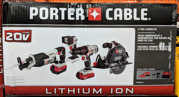 Porter Cable 4 pc Tool Combo Kit