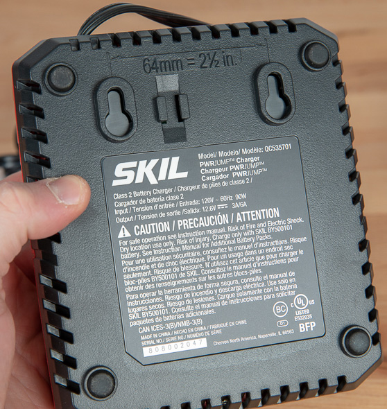 Skil PWRCore 12 Brushless Drill Kit Battery Charger Back
