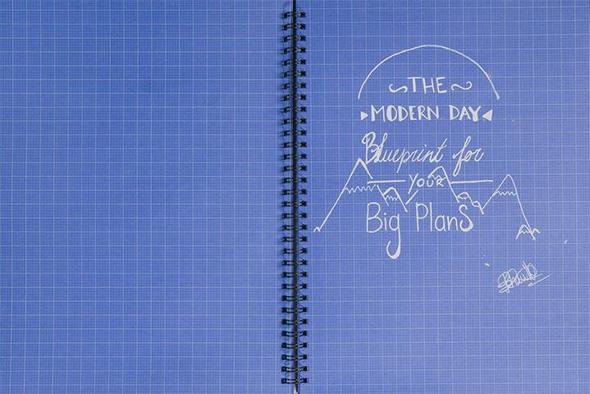 Blu Notebook Paper
