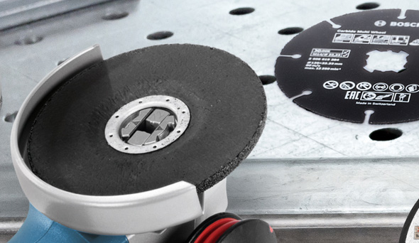Bosch X-Lock Grinder Interface Close Up