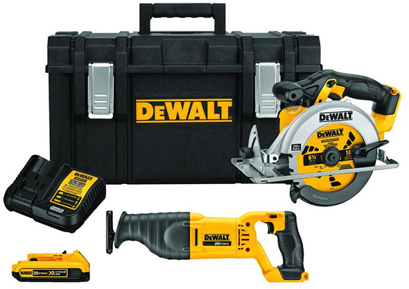 Dewalt Cordless Circular Saw and Reciprocating Saw and ToughSystem Bundle H2018