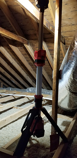Milwaukee M12 LED Rocket Light in Attic