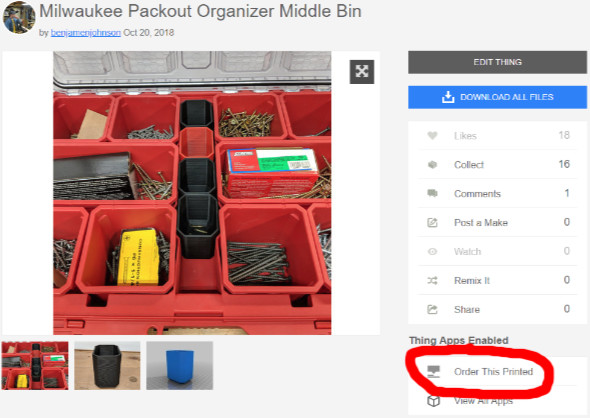 Milwaukee Packout Organizer Middle Bin Thingiverse Page