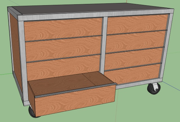 My Journey To An Organized Shop - Completed Sketchup design