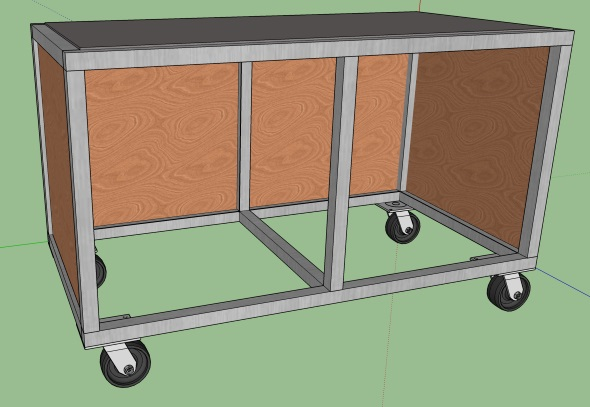 My Journey To An Organized Shop - Sketchup design with sides