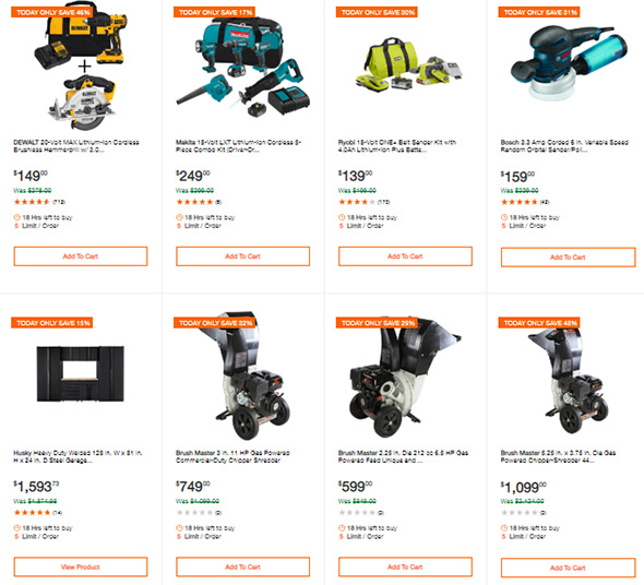 Home Depot Tool Deals of the Day 2-25-2019 Page 2