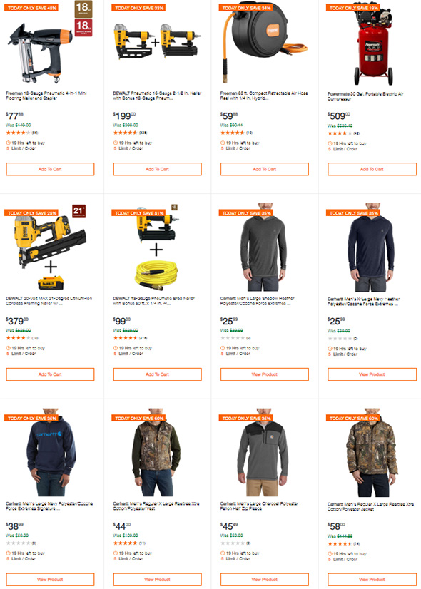 Home Depot Tool Deals of the Day 2-8-2019 Page 2
