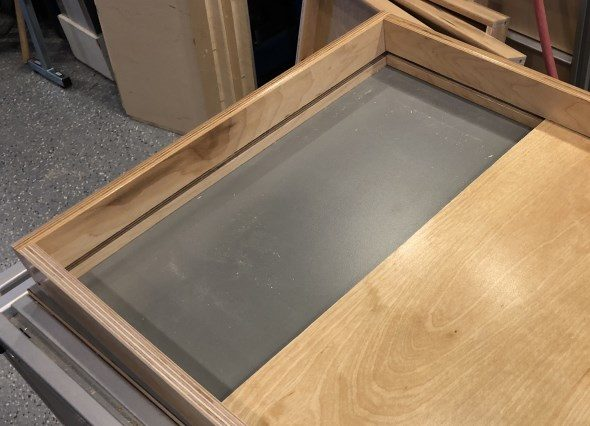 Journey to an Organized Workshop Part 4 - Inserting drawer bottom