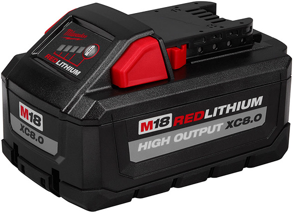 Milwaukee M18 XC8 Ah High Output Cordless Power Tool Battery