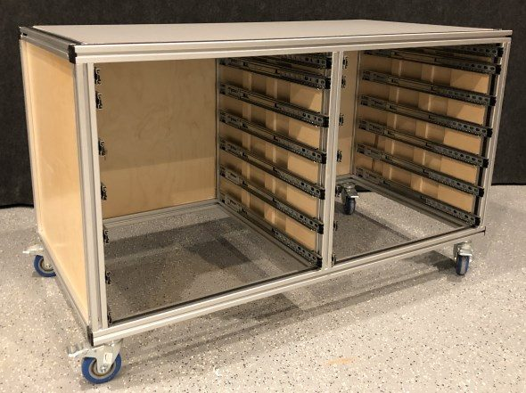 My Journey to an Organized Workshop with Modular Tool Cabinets - Top and sides exposed