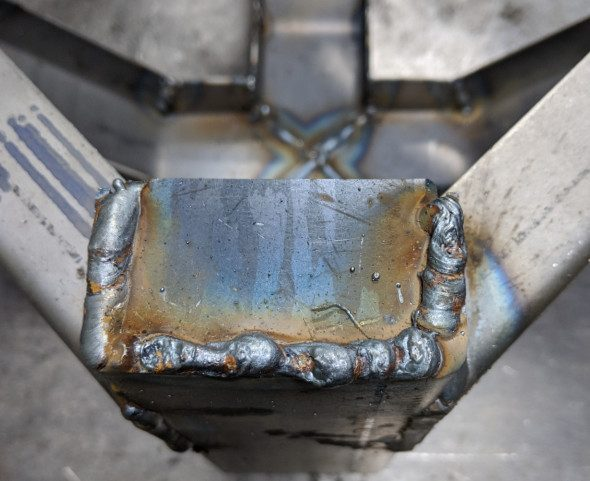 Quarter inch steel plate welded into channel