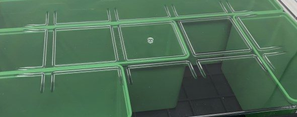 Auer Packaging Assortment Boxes - Bin Locking Grid in Lid