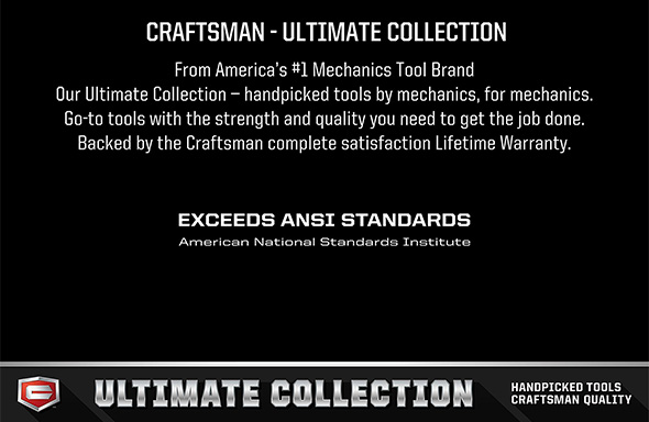 Craftsman Ultimate Tools Collecton