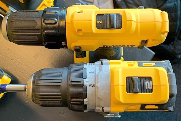 Dewalt 12V Brushless Cordless Drill Size Comparison EU Release