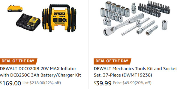 Dewalt Tool Deals 3-13-19 Part 1