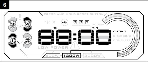 Ego Nexus Portable Power Station Display Example