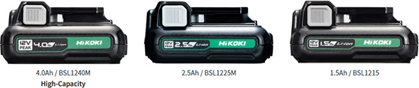 HiKoki 12V Max Cordless Power Tool Batteries