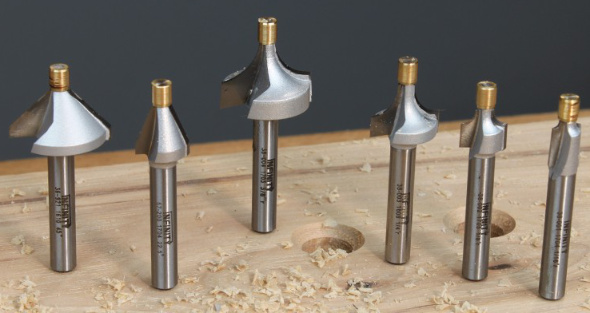 Infinity Brass Pilot Router Bit Set