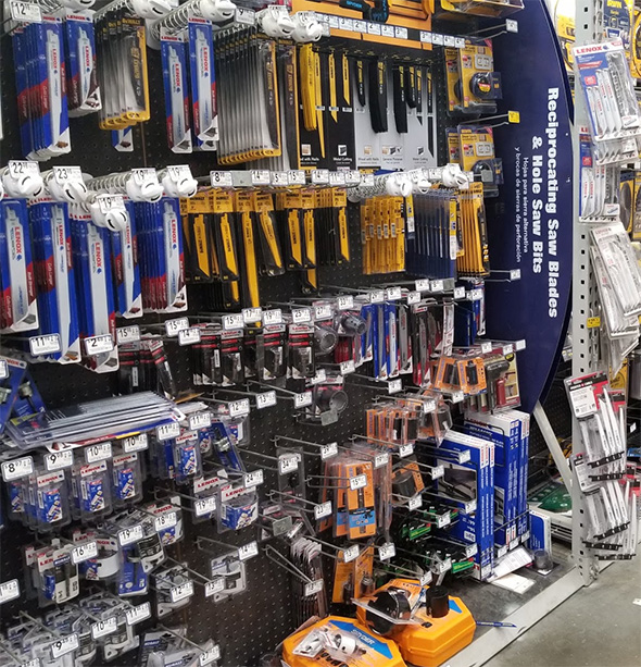 Lowes Reciprocating Saw Blade Display March 2019