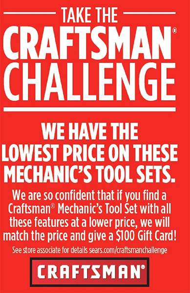 Sears Craftsman Tool Pricing Challenge