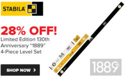 Stabila Anniversary Level Set 2019 Tool Nut Promo