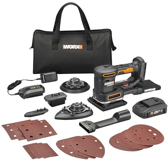 Worx 20V Multi-Sander WX820L Cordless Tool Kit