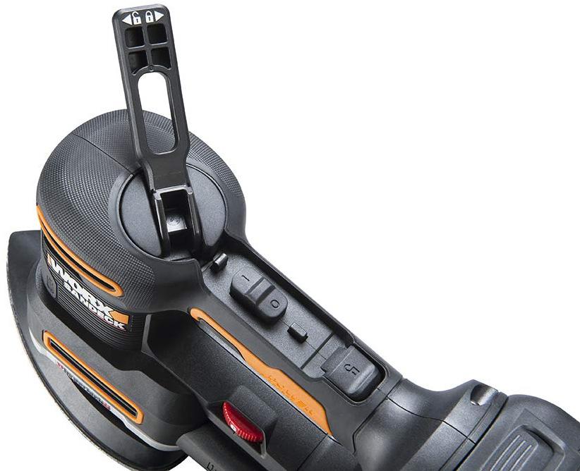 Worx 20V Multi-Sander WX820L Tool-Free Pad Changes