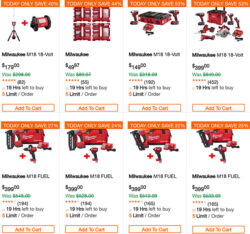 Home Depot Milwaukee Cordless Power Tools Deal of the Day 4-1-2019 Page 2