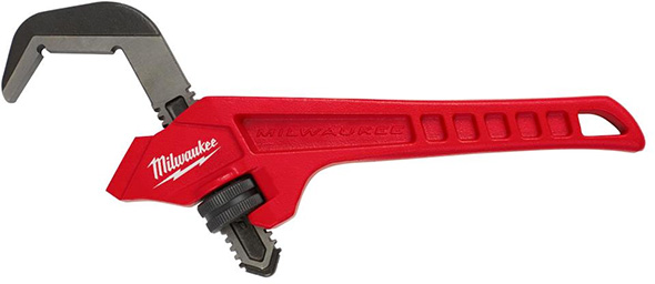Milwaukee Offset Smooth Jaw Pipe Wrench