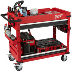 Milwaukee Tool Cart 48-22-8590 Loaded with Tools