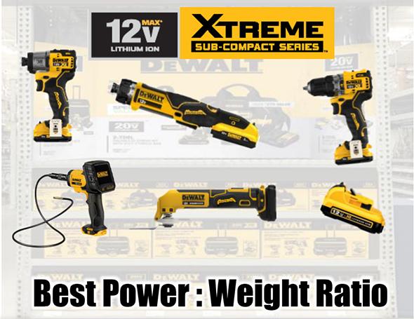 Dewalt 12V Max Xtreme Sub-Compact Series Tools