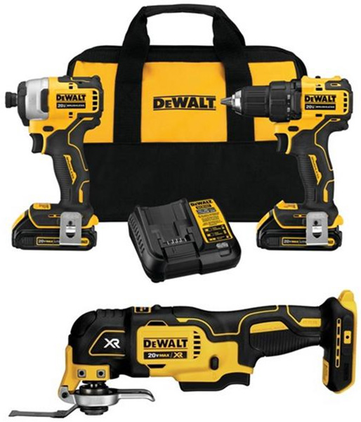 Dewalt Atomic Cordless Power Tool Combo Kit Bundle