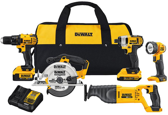 Dewalt DCK520D1M1 Cordless Power Tool Combo Kit