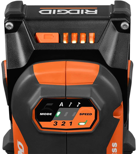 Ridgid R86039B 18V 6-Mode Octane 18V Cordless Impact Driver User Controls
