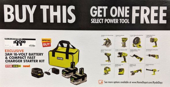 Ryobi Days 2019 Deal Sign