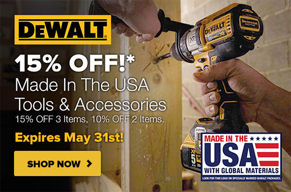 Tool Nut Dewalt Made in USA Buy More Save More Discount May 2019