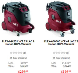 Acme Tools Flex HEPA Vacuum Deals