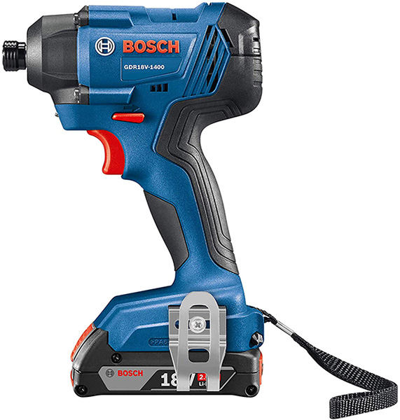 Bosch GDR18V-1400B12 Cordless Impact Driver Side View