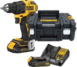 Dewalt Atomic Cordless Drill Kit and TStak Tool Box Bundle