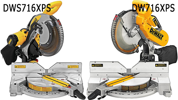 Dewalt DWS716XPS vs DW716XPS Miter Saw Comparison