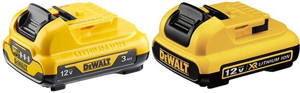 Dwalt 12V Battery Comparison 3Ah vs 2Ah