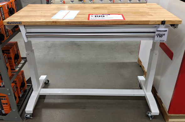 Cool Husky 52 Adjustable Height Workbench With 2 Drawers Ibusinesslaw Wood Chair Design Ideas Ibusinesslaworg