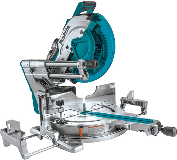 Makita XSL08PT 18V X2 Brushless 12-inch Miter Saw with AWS Capable and Laser